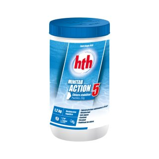 hth Chlortabletten Multifunktion | Minitab Action 5 Multifunktionstabletten 1,2 kg