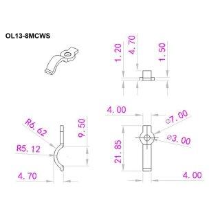 Montagehalterung Clips  LED IP65 strip, 8mm